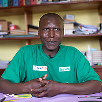 Emmanuel Kasereka Sikuli, school headmaster, Butembo.  Mr Kasakere helped children in his school to be specially trained in healthcare and the prevention and control of infection. IMA and Tearfund worked together on the project in the framework of a broad programme to strengthen response and recovery to Ebola in North Kivu, Congo.