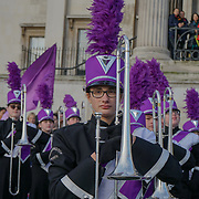 London, England, UK. 30th Dec 2018. Participants and spectators free preview for The London New Year's Day Parade with a special performance in Trafalgar Square.