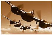 P-38s, aerial