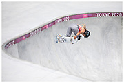 Sky Brown for Team GB in the women's skateboard park final at the Tokyo 2020 Olympic Games. Brown won Bronze in the first ever skateboard competition in the Olympics.