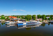 Augustów, centrum miasta, port Żeglugi Augustowskiej