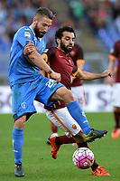 Mohamed Salah Roma, Lorenzo Tonelli Empoli.<br /> Roma 17-10-2015 Stadio Olimpico, Football Calcio 2015/2016 Serie A.AS Roma - Empoli.  Foto Antonietta Baldassarre / Insidefoto