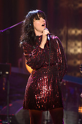 Imelda May performing during the filming of the Graham Norton Show at BBC Studioworks 6 Television Centre, Wood Lane, London, to be aired on BBC One on Friday evening.