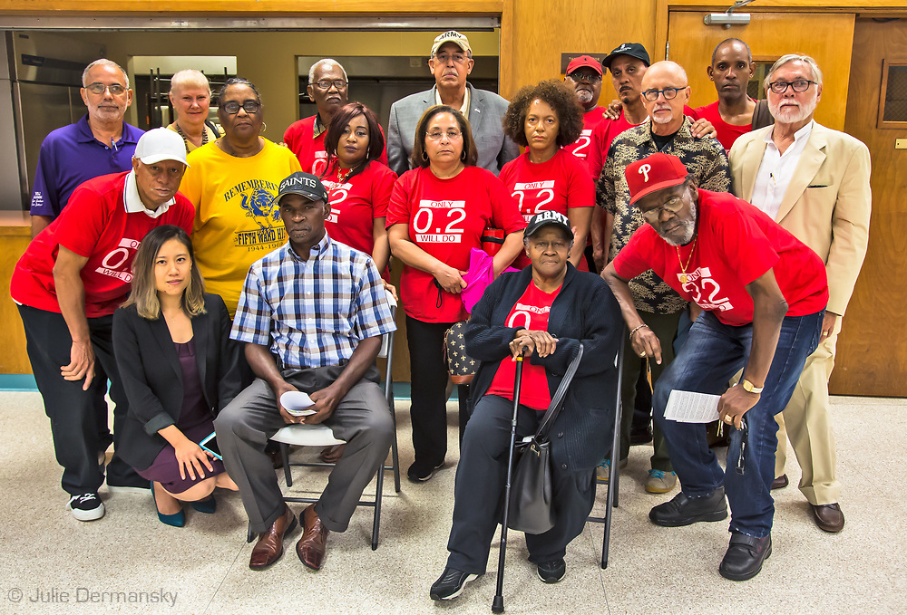 Members of the Concerned Citizens group of St Johns gather on June 6, 2017 Lutcher Louisana, a LDEQ permit hearing .The new owner of the Noranda Alumina plant is seeking a permit that will allow the company to emit up to 1,500 pounds of Mercury into the air. People who spoke against the permit made it clear adding Mercury into the air was not something they welcome. No one from the company came to speak on the company's behalf of its proposed expansion. More to follow in a series I'm working on for DeSmogBlog about Louisiana's Cancer Alley for DeSmogBlog.