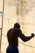 Portrait of young boxer, Havana, Cuba