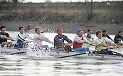 London. England, Old Blue 2. Ben HUNT DAVIS, 3. Kingsley POOLE. 4, Cal MACLENNAN, 5. Jonny SEARLE, 6 Matt PINSENT,, 7. Pete BRIDGE stroke Rupert OBHOLZER.Oxford University BC, Pre Boat Race Fixture, Oxford University vs Old Blue's eight. River Thames, Putney.<br /> <br /> [Mandatory Credit;Peter SPURRIER/Intersport Images] 1990's Varsity Pre race Fixture. Oxford University BC vs Old Blues Eight.