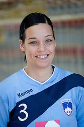 Portrait of Anja Argenti of Slovenian Handball Women National Team, on June 3, 2009, in Arena Kodeljevo, Ljubljana, Slovenia. (Photo by Vid Ponikvar / Sportida)