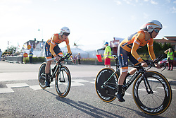 Karol-Ann Canuel (CAN) of Boels-Dolmans Cycling Team accelerates in the first meters of the Crescent Vargarda - a 42.5 km team time trial, starting and finishing in Vargarda on August 11, 2017, in Vastra Gotaland, Sweden. (Photo by Balint Hamvas/Velofocus.com)