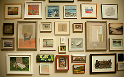 © licensed to London News Pictures. LONDON, UK  02/06/11. A wall of art at the Royal Academy of the Arts Summer Exhibition. The Royal Academy of the Arts Summer Exhibition is the largest open contemporary art exhibition in the world, with pieces contributed by established, unknown and emerging artists. Please see special instructions for usage rates. Photo credit should read Matt Cetti-Roberts/LNP