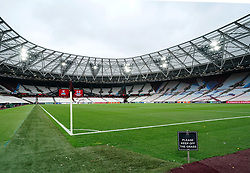 A general view of the stadium before the UEFA Europa League Group H match at the London Stadium, London. Picture date: Thursday September 30, 2021.
