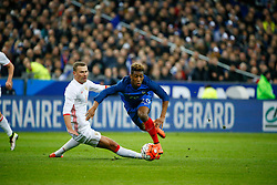 29.03.2016, Stade de France, St. Denis, FRA, Testspiel, Frankreich vs Russland, im Bild berezoutski alexei, coman kingsley // during the International Friendly Football Match between France and Russia at the Stade de France in St. Denis, France on 2016/03/29. EXPA Pictures © 2016, PhotoCredit: EXPA/ Pressesports/ Sebastian Boue<br /> <br /> *****ATTENTION - for AUT, SLO, CRO, SRB, BIH, MAZ, POL only*****