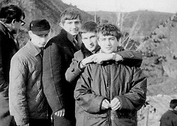 Before rising to power as one of the most infamous leaders in the world, Putin was a playful, hipster-dressing man in love. circa 1968 - Russia - A young VLADIMIR PUTIN (left). (Credit Image: © Russian Archives via ZUMA Wire)