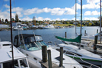 Yachts, sailing boats, marina, at Taupo on Lake Taupo, New Zealand. 201004145413..Copyright Image from Victor Patterson, 54 Dorchester Park, Belfast, United Kingdom, UK. Tel: +44 28 90661296. Email: victorpatterson@me.com; Back-up: victorpatterson@gmail.com..For my Terms and Conditions of Use go to www.victorpatterson.com and click on the appropriate tab.