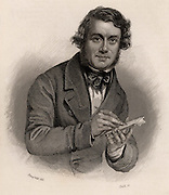 Alfred Crowquill (pseudonym of Alfred Henry Forrester  1804-1872) English writer and illustrator. A contributor to the early volumes of 'Punch'.  Engraving, 1846.