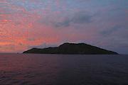 Pitcairn Island at sunrise<br />