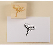 """1.5"""" RUBBER STAMP: A rubber stamp of the oxeye daisy from the 80x80 Project - perfect for decorating letters, postcards, or anything else! PRICE: $20.00 plus shipping"""