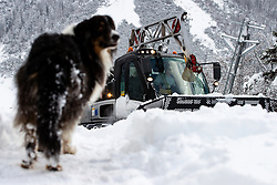 Jure Fenz driving a snow groomer at preparation of Planica Hill 6 days before FIS Ski Flying World Championships 2020, on December 4, 2020 in Planica, Slovenia. Photo by Matic Klansek Velej / Sportida