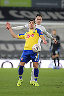 Southampton defender Cedric Soares controls the ball during the The FA Cup 3rd round match between Derby County and Southampton at the Pride Park, Derby, England on 5 January 2019.
