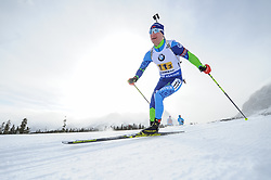 February 8, 2019 - Calgary, Alberta, Canada - Lazouski Dzmitry (BEL) is competing during Men's Relay of 7 BMW IBU World Cup Biathlon 2018-2019. Canmore, Canada, 08.02.2019 (Credit Image: © Russian Look via ZUMA Wire)
