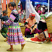 Girl at market at Northern Vietnam