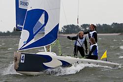 Matchracing final, Groeneveld - Lehtinen. Groeneveld wins 2-1, May 29th, Delta Lloyd Regatta in Medemblik, The Netherlands (26/30 May 2011).