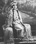9305-B7349. Portrait of Elsie Pistolhead, mother to Douglas Yallup. 1928.