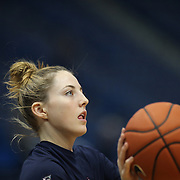 HARTFORD, CONNECTICUT- JANUARY 4: Katie Lou Samuelson #33 of the Connecticut Huskies warming up before the UConn Huskies Vs East Carolina Pirates, NCAA Women's Basketball game on January 4th, 2017 at the XL Center, Hartford, Connecticut. (Photo by Tim Clayton/Corbis via Getty Images)