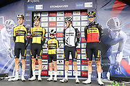 Xander Graham joins Team Jumbo-Visma on the podium ahead of Stage 8 of the AJ Bell Tour of Britain 2021 between Stonehaven to Aberdeen, , Scotland on 12 September 2021.