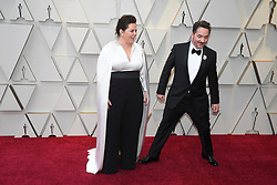 February 24, 2019 - Los Angeles, California, U.S - MELISSA MCCARTHY AND BEN FALCONE during red carpet arrivals for the 91st Academy Awards, presented by the Academy of Motion Picture Arts and Sciences (AMPAS), at the Dolby Theatre in Hollywood. (Credit Image: © Kevin Sullivan via ZUMA Wire)