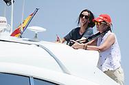 Princess Elena, Victoria Federica de Marichalar on board of the Somni during the 37th Copa Del Rey Mafre Sailing Cup on July 30, 2018 in Palma, Spain