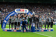 Newcastle United are presented with the EFL Sky Bet Championship trophy following the EFL Sky Bet Championship match between Newcastle United and Barnsley at St. James's Park, Newcastle, England on 7 May 2017. Photo by Craig Doyle.