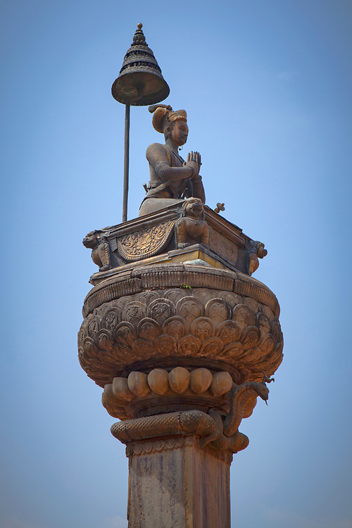 King Bhupatindra Malla Statue, Vatsala Durga Temple, Bhaktapur