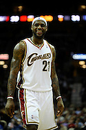 LeBron James during a win over visiting New Jersey on March 25, 2009 at Quicken Loans Arena. The victory set a new Cavaliers record for wins in a season at 58.