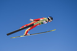 March 2, 2018 - Lahti, FINLAND - 180302 Einar LurÅ's Oftebro of Norway during a Ski jumping training session ahead of the FIS Nordic Combined World Cup on March 02, 2018 in Lahti. .Photo: Fredrik Varfjell / BILDBYRN / kod FV / 150068 (Credit Image: © Fredrik Varfjell/Bildbyran via ZUMA Press)