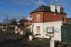 Derelict pub for sale (at least three years derelict) on the A4 in Reading. Building may be sold as a plot of land. UK