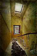 Staircase in an abandoned asylum, with windows http://www.vivecakohphotography.co.uk/2011/07/09/take-me-down/