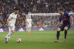 March 2, 2019 - Madrid, Madrid, Spain - Marco Asensio (midfielder; Real Madrid) in action during La Liga match between Real Madrid and FC Barcelona at Santiago Bernabeu Stadium on March 3, 2019 in Madrid, Spain (Credit Image: © Jack Abuin/ZUMA Wire)