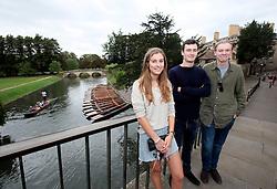 UK ENGLAND CAMBRIDGE 6SEP16 - Inigo Grose (19, L), Edward Deddows  (19, C) and Charlottte Sanderson (19) - students from Cambridge at Cambridge city centre.<br /> <br /> jre/Photo by Jiri Rezac<br /> <br /> © Jiri Rezac 2016
