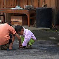 Asia, Bhutan, Bumthang. Bhutanese kids.