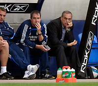 Photo: Jed Wee/Sportsbeat Images.<br /> Bolton Wanderers v Chelsea. The FA Barclays Premiership. 07/10/2007.<br /> <br /> Chelsea coach Steve Clarke (L), whose position is under threat following the rumours surrounding the possible arrival of Dutchman Henk Ten Cate, mirrors the mood of manager Avram Grant.