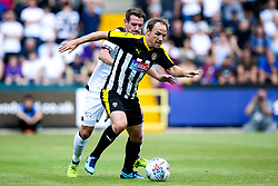 David Vaughn of Notts County takes on Craig Bryson of Derby County - Mandatory by-line: Robbie Stephenson/JMP - 14/07/2018 - FOOTBALL - Meadow Lane - Nottingham, England - Notts County v Derby County - Pre-season friendly