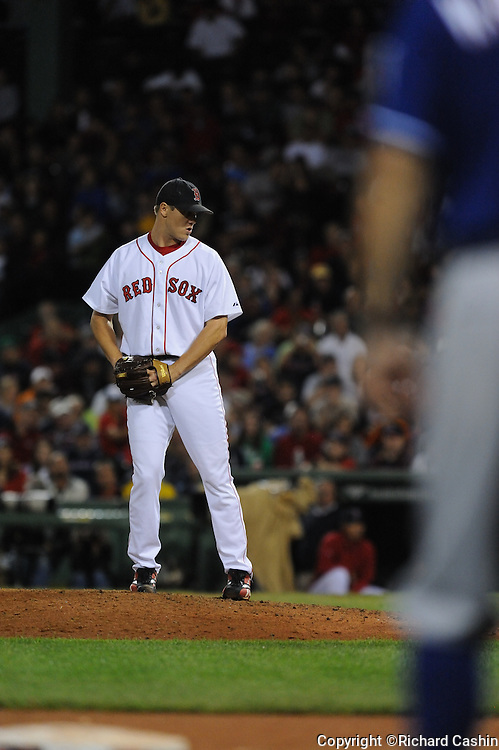 12 Aug 2008: The Red Sox beat the Rangers 19-17 at Fenway Park, Boston MA.