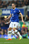Phil Jagielka of Everton looks on. Premier league match, Everton v West Bromwich Albion at Goodison Park in Liverpool, Merseyside on Saturday 11th March 2017.<br /> pic by Chris Stading, Andrew Orchard sports photography.