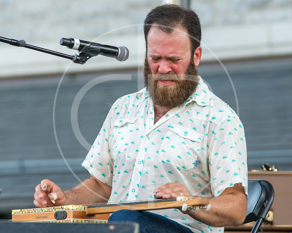 BALTIMORE United States - July 18, 2015: Maryland native and former The Bridge member Cris Jacobs, performs on the Wells Fargo Stage at Artscape, located in Baltimore's Mount Royal Cultural Corridor