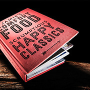 Jamie Oliver's comfort food, scrumptious happy classics - recipe book photographed in the Hype Photography studio