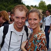 Wrapparty Onderweg naar Morgen Six Flags, Dennis van Tellingen en Fabienne de Vries
