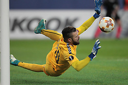 November 23, 2017 - Russia - goalkeeper Filip Gachevski of FC Vardar during UEFA Europa League Football match Zenit - Vardar. Saint Petersburg, November 23,2017 (Credit Image: © Anatoliy Medved/Pacific Press via ZUMA Wire)