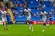 GOAL 0-1 Bournemouth midfielder Junior Stanislas (19) scores his side's first goal during the EFL Sky Bet Championship match between Cardiff City and Bournemouth at the Cardiff City Stadium, Cardiff, Wales on 18 September 2021.