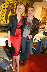 Model  JADE PARFITT and TOBY BURGESS  at the opening of the new Diesel shop at 130 New Bond Street, London W1 on 18th May 2006.<br /><br />NON EXCLUSIVE - WORLD RIGHTS