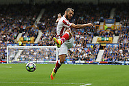 Erik Pieters of Stoke City attempts a shot at goal. Premier league match, Everton v Stoke city at Goodison Park in Liverpool, Merseyside on Saturday 27th August 2016.<br /> pic by Chris Stading, Andrew Orchard sports photography.